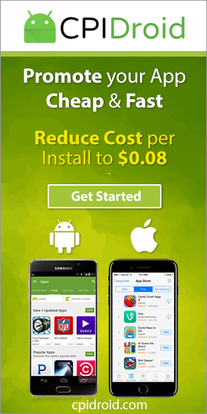 CPIDroid.com - Promote your App Cheap & Fast. Reduce Cost per Install to $0.08